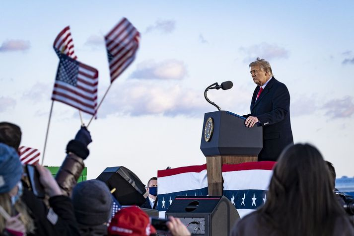 Þó Donald Trump sé farinn úr Hvíta húsinu er hann ekki hættur í pólitík.