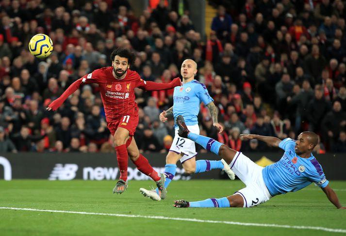 Liverpool er með 25 stiga forskot á Manchester City á toppi ensku úrvalsdeildarinnar.