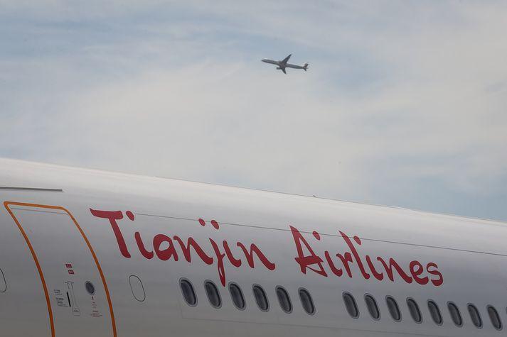 Kínverska flugfélagið Tianjin Airlines vinnur nú í því að hefja áætlunarflug til Íslands.