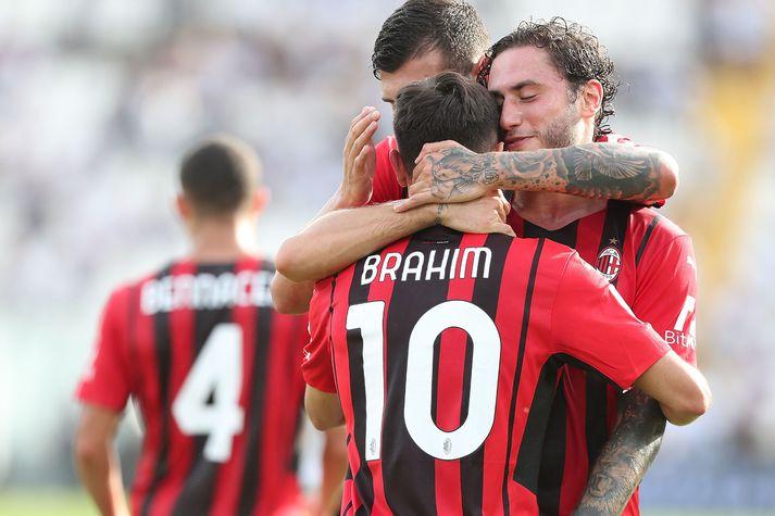 Brahim Diaz tryggði AC Milan stigin þrjú í dag.