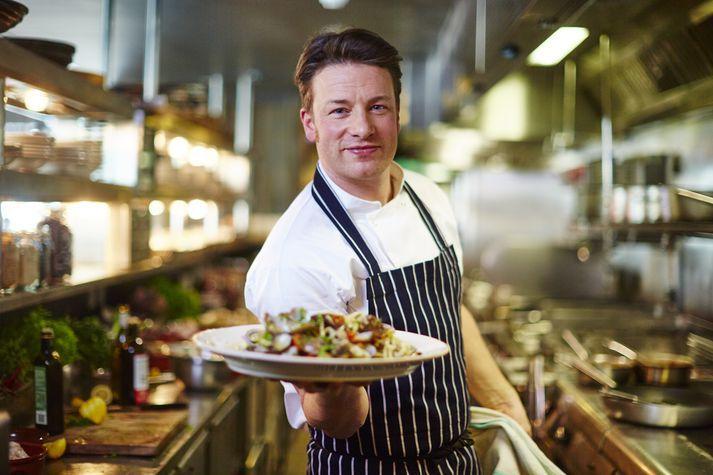 Jamie Oliver er heimsþekktur sjónvarpskokkur.