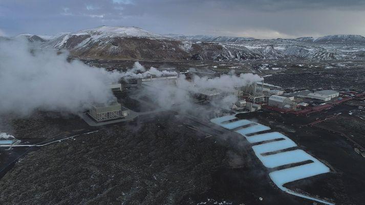 Frá virkjun HS Orku í Svartsengi þar sem heita vatnið sem HS Veitur dreifa til sveitarfélaga á Suðurnesjum er hitað upp.