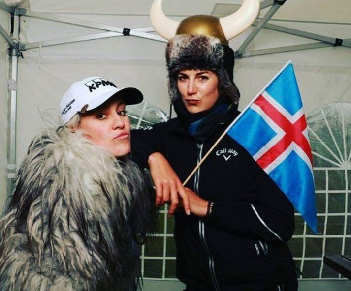 Ólafía Þórunn Kristinsdóttir og Sandra Gal.
