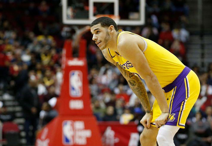 Lonzo Ball hefur átt erfitt uppdráttar hjá Lakers vegna meiðsla