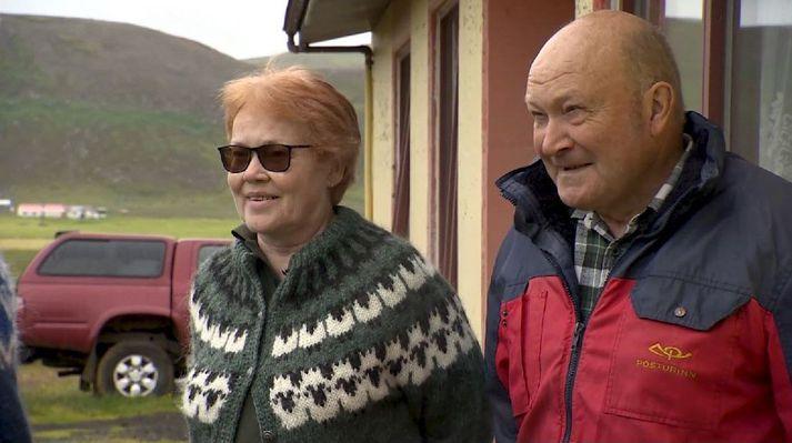 Hjónin Vigdís Sigurðardóttir og Eiríkur Kristjánsson eru bændur í Borgum í Kollavík.