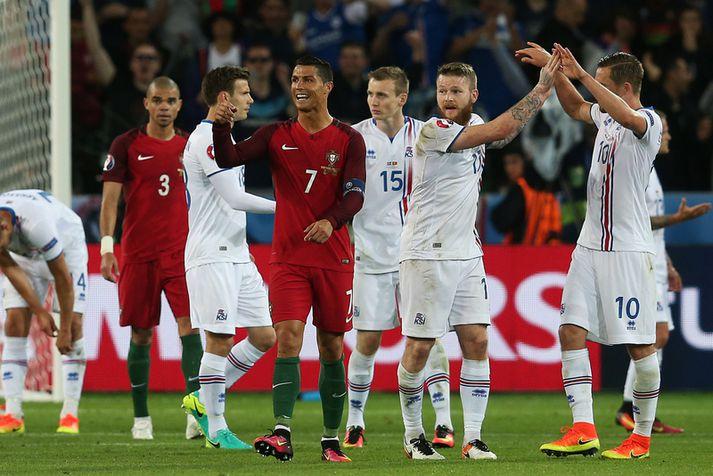 Cristiano Ronaldo og félagar munu auðvelda leið Íslands inn á EM 2020 ef þeir vinna Lúxemborg og tryggja sér farseðilinn sinn á EM alls staðar.