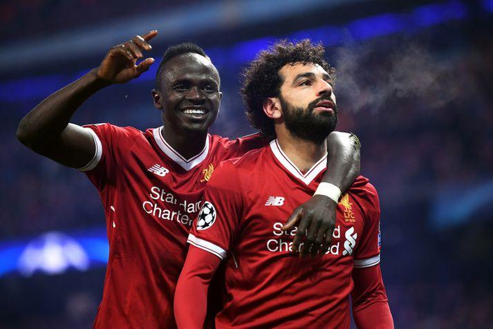 Mohamed Salah og Sadio Mane urðu báðir markakóngar ensku úrvalsdeildarinnar.