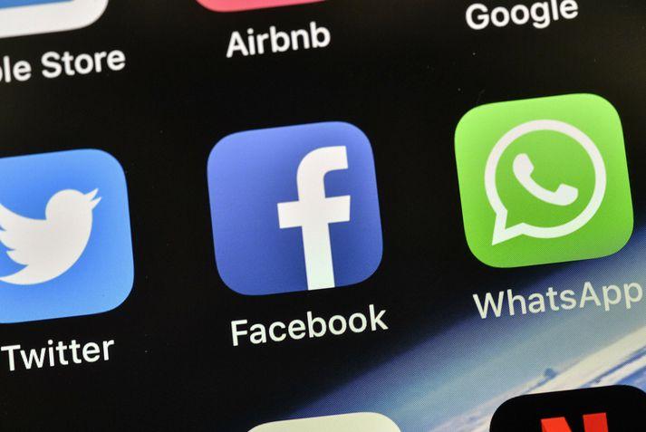 Vandinn nær til Facebook, Messenger og Instagram.