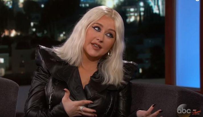 Christina Aguilera í skemmtilegu spjalli.