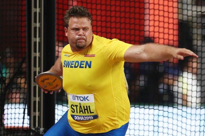 Daniel Ståhl er fremsti kringlukastari heims. Hann hefur lengi æft undir handleiðslu Vésteins Hafsteinssonar.