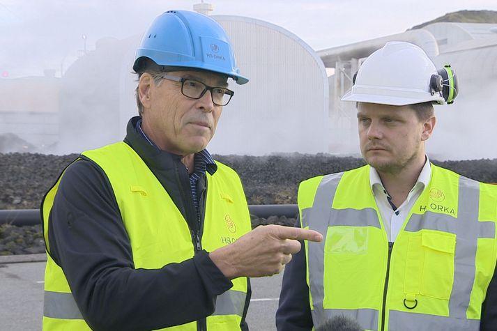 Rick Perry var staddur á Íslandi í tengslum við Hringborð norðurslóða í síðustu viku.