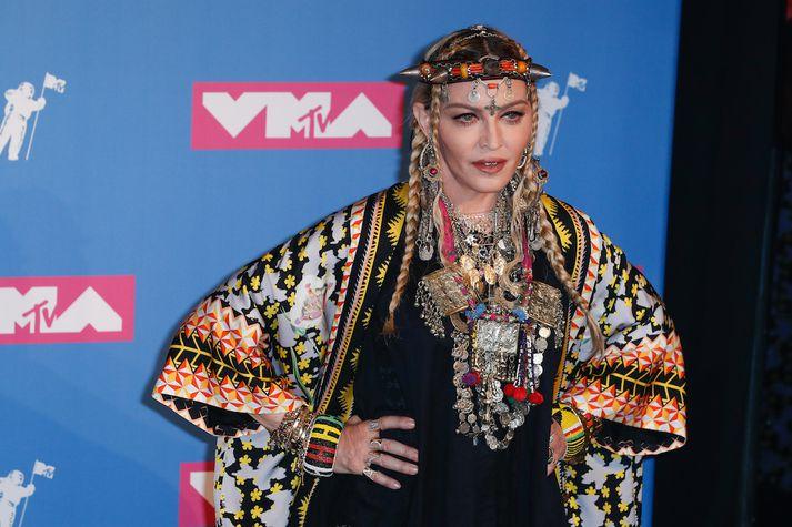 Madonna á tónlistarhátíðinni í gær.