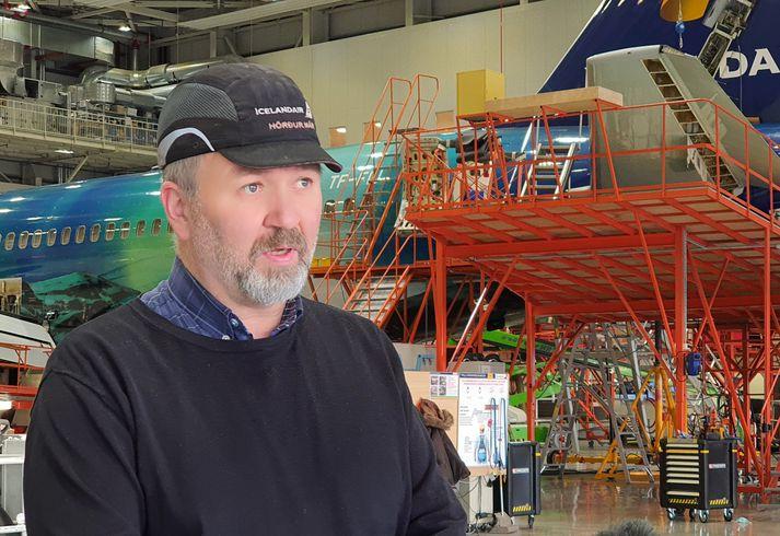 Hörður Már Harðarson, tæknistjóri viðhaldsstöðvar Icelandair.