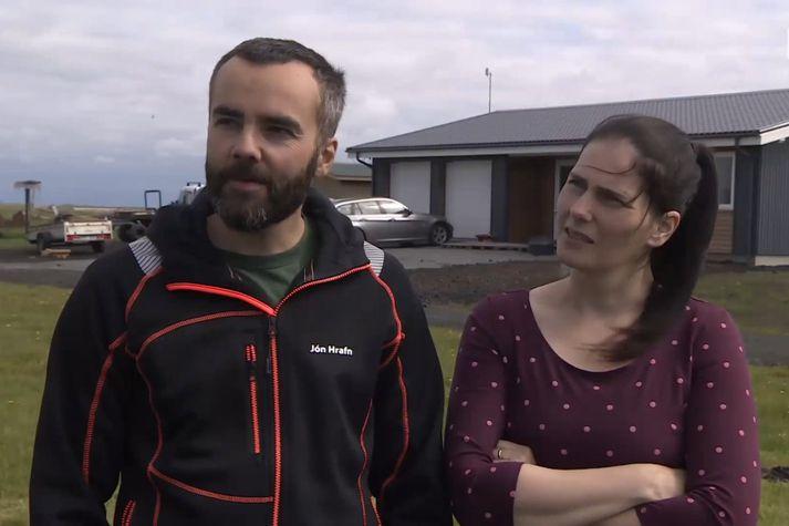Jón Hrafn Karlsson og Linda Ösp Gunnarsdóttir, ferðaþjónustubændur á Syðri-Steinsmýri í Meðallandi.