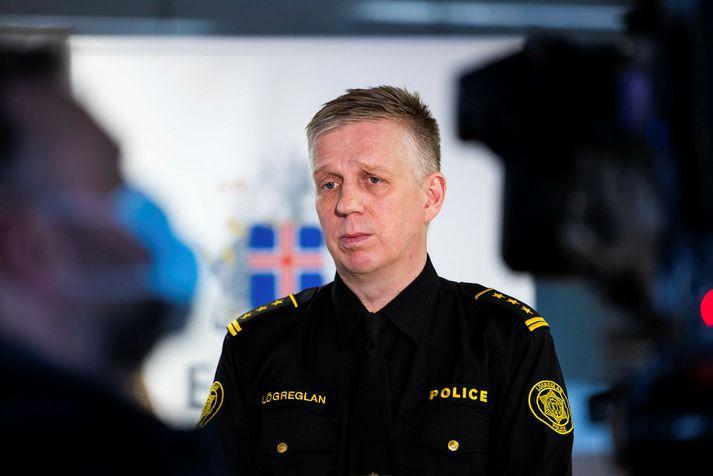 Víðir Reynisson yfirlögregluþjónn smitaðist af veirunni í nóvember.