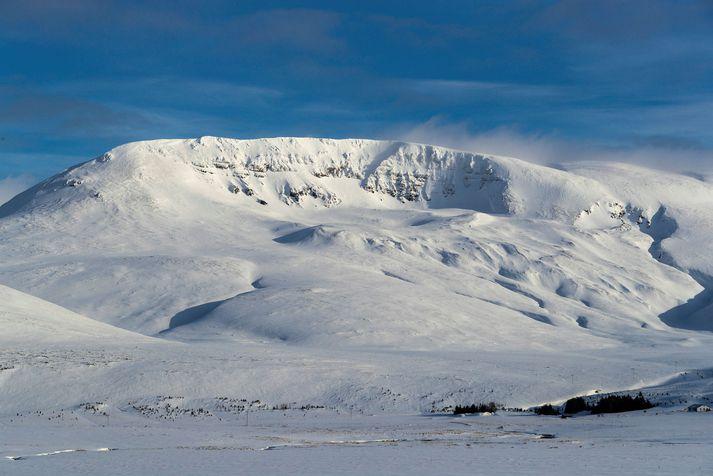 Snjóflóðið var í Skálafelli á öðrum tímanum.