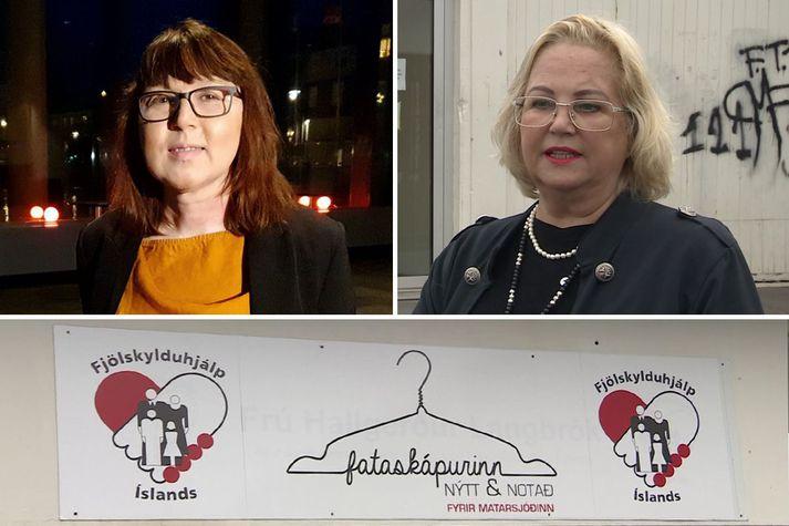 Sabine Leskopf er formaður fjölmenningarráðs Reykjavíkurborgar og Ásgerður Jóna Flosadóttir er formaður Fjölskylduhjálpar Íslands.