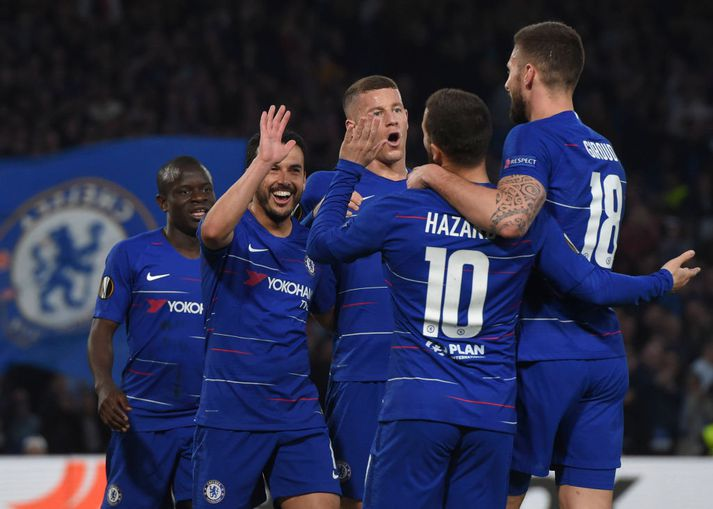 Leikmenn Chelsea fagna