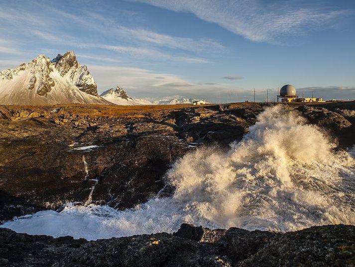 Ratsjárstöðin á Hornafirði.
