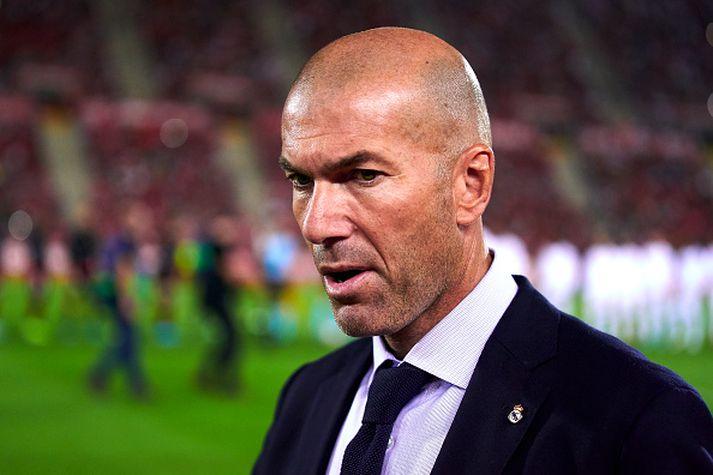 Zidane um helgina er Real tapaði fyrir Mallorca.