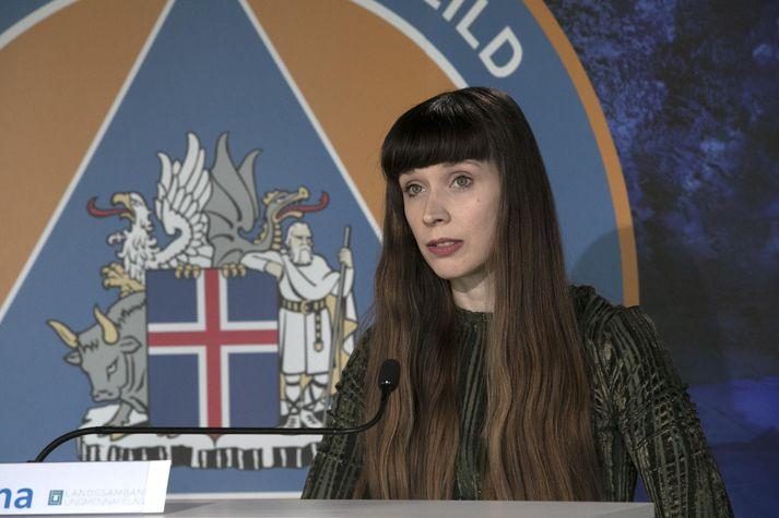 Una Hildardóttir, forseti Landssambands ungmennafélaga, var gestur á upplýsingafundi dagsins.