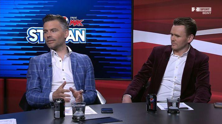 Reynir og Davíð voru spekingar Pepsi Max-stúkunnar í gærkvöldi.