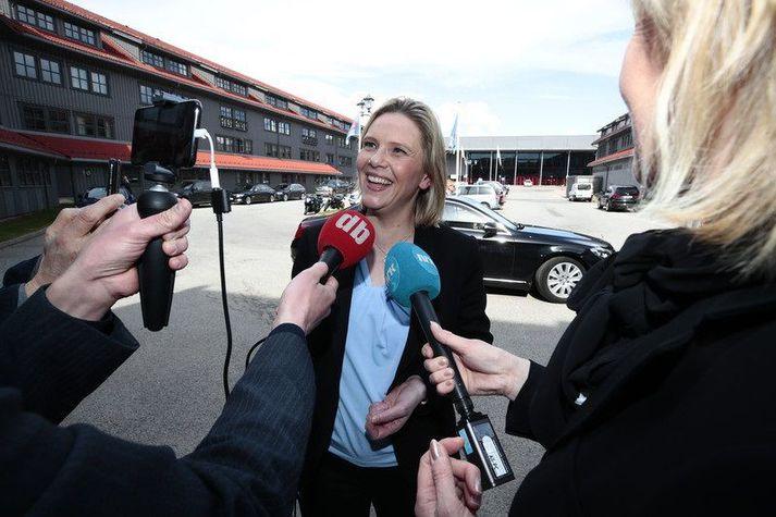 Sylvi Listhaug var ráðherra innflytjendamála í ríkisstjórn Ernu Solberg á árunum 2015 til 2018.