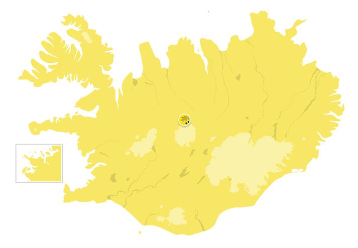 Gul viðvörun er í gildi fyrir allt landið á sunnudag eins og staðan er núna.