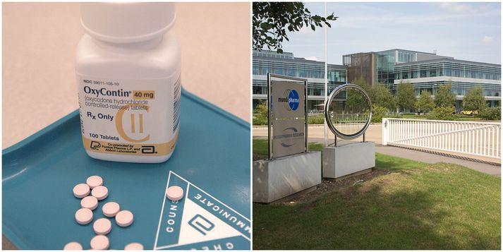 Systurfyrirtæki Purdue Pharma, Mundipharma, setti á markað mótlyf við ópíóíðum.