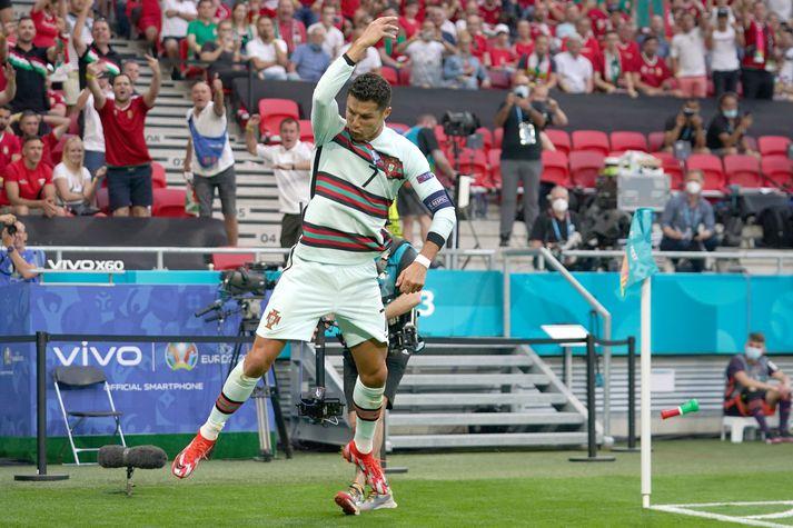 Ronaldo fagnaði eins og honum einum er lagið.