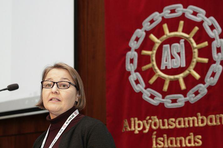 Drífa Snædal er forseti Alþýðusambands Íslands.