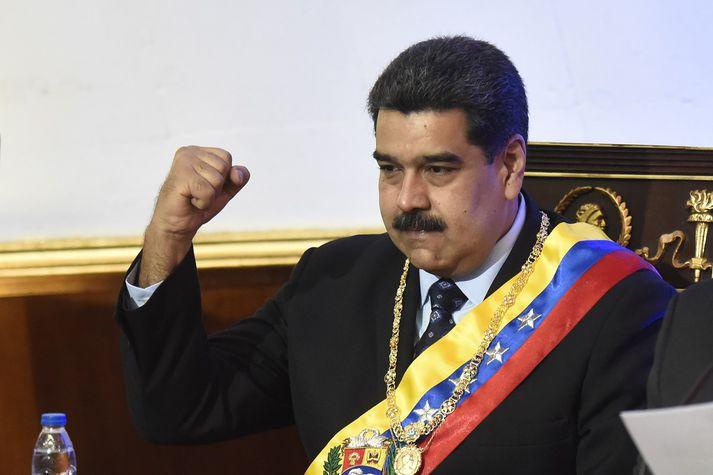 Nicolás Maduro, forseti Venesúela.