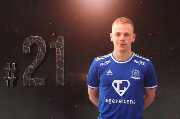 Sævar Atli Magnússon mun spila í treyju númer 21 hjá Lyngb,.