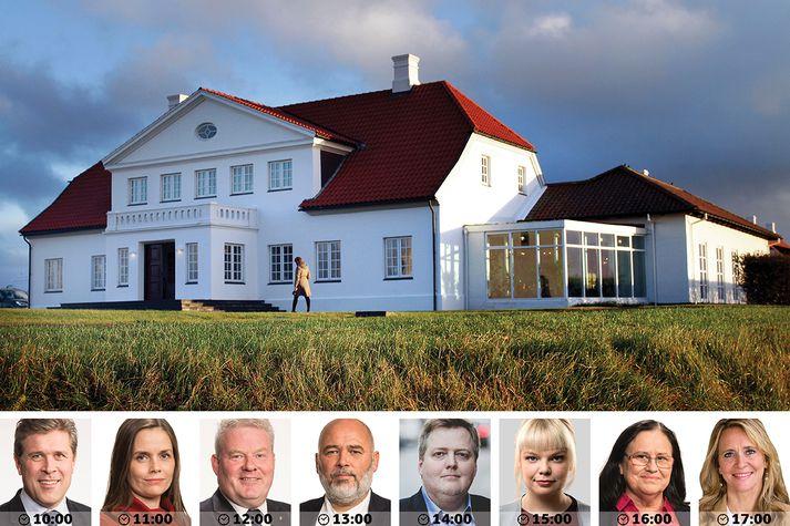 Það verður nóg um að vera hjá Guðna Th. Jóhannessyni, forseta Íslands, á Bessastöðum í dag.