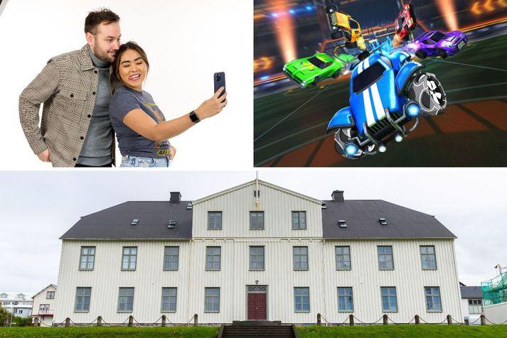 Kristján Einar Kristjánsson og Donna Cruz lýsa keppni framhaldsskólanna í Rocket League leiknum í kvöld kl. 19.