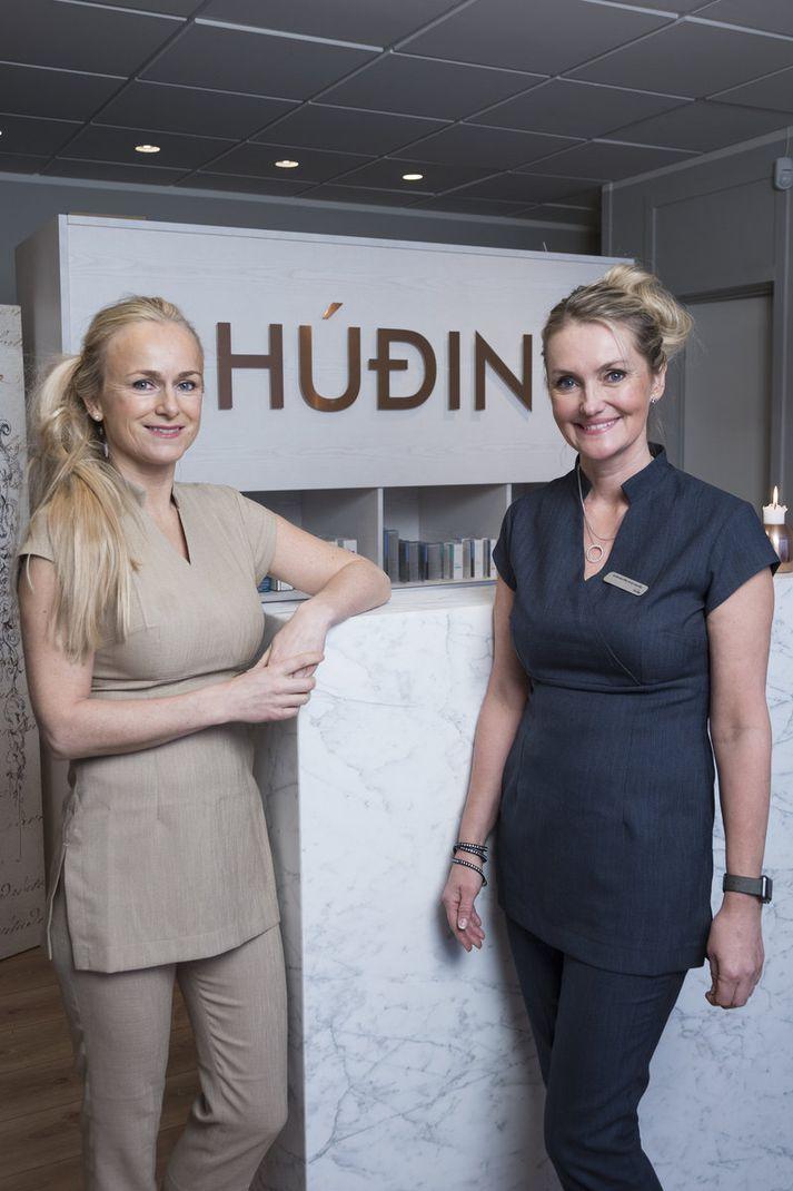Lára G. Sigurðardóttir læknir og Sigríður Arna Sigurðardóttir, hjúkrunar- og snyrtifræðingur, eru eigendur HÚÐIN skin clinic.