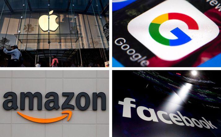 Alphabet, Amazon, Apple og Facebook skiluðu samtals um 28,6 milljarða dala hagnaði á öðrum fjórðungi ársins.