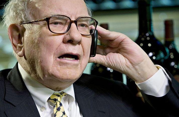 Warren Buffett í símanum.