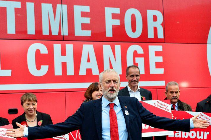Jeremy Corbyn er formaður breska Verkamannaflokksins.