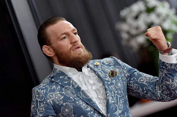 Conor McGregor rétt áður en hann hætti að berjast.