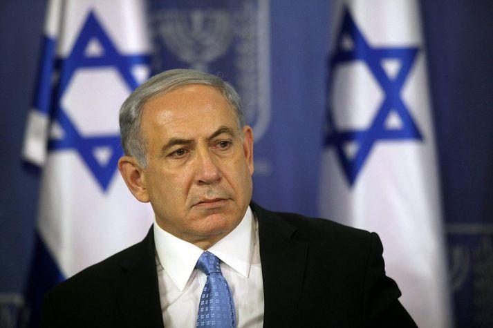 Benjamín Netanyahu, forsætisráðherra Ísraels.