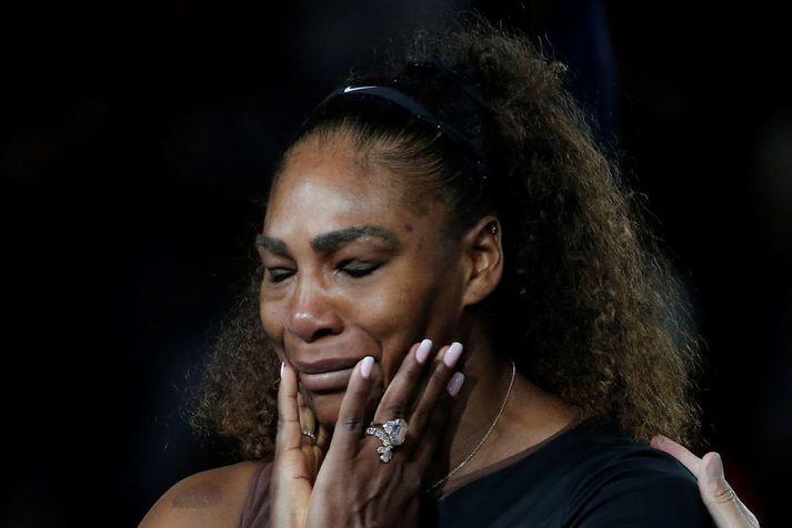 Serena Williams hefur átt betri daga en úrslitaleikinn á Opna bandaríska í september 2018