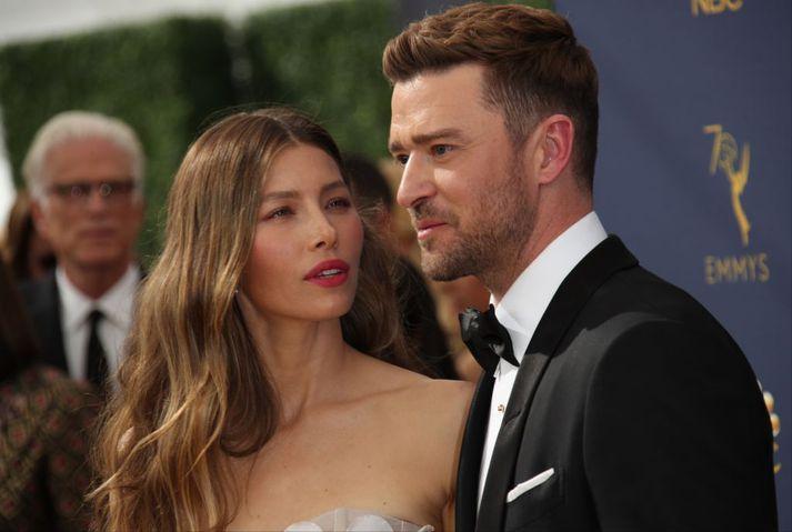 Hjónin Jessica Biel og Justin Timberlake.