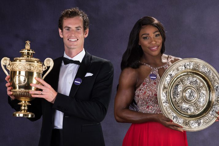 Andy Murray og Serena Williams.