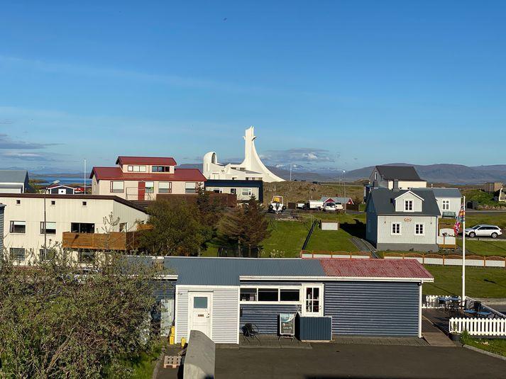Stykkishólmur er á norðanverðu Snæfellsnesi, hvar nokkuð vindasamt gæti orðið í dag.