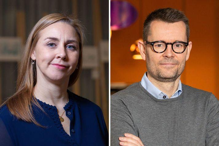 Jakobína H. Árnadóttir sviðstjóri ráðninga hjá Capacent og Sverrir Briem ráðgjafi og einn eigandi Hagvangs.