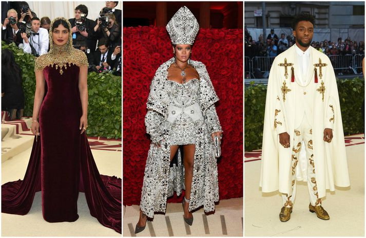 Priyanka Chopra, Rihanna og Chadwick Boseman.