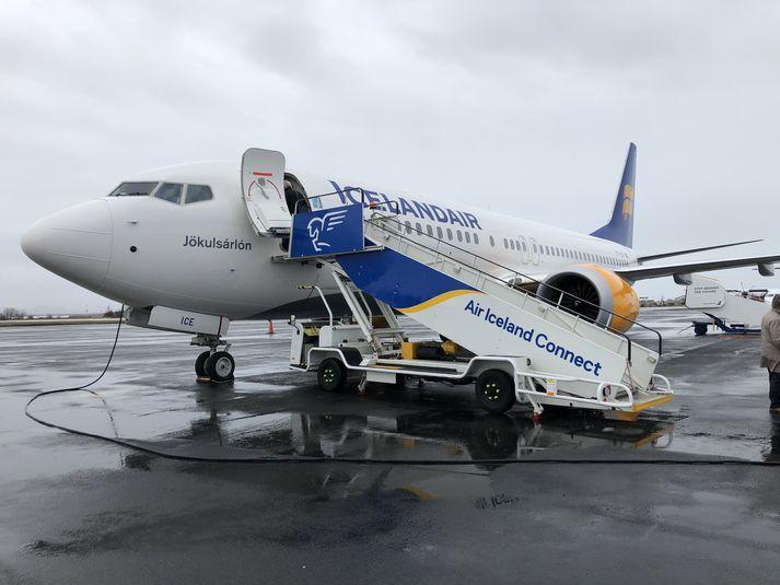 Nýjasta flugvélin í flota Icelandair er af gerðinni Boeing 737 Max 8