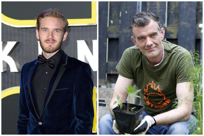 PewDiePie, sem heitir réttu nafni Felix Kjellberg, og Stefán Karl Stefánsson.