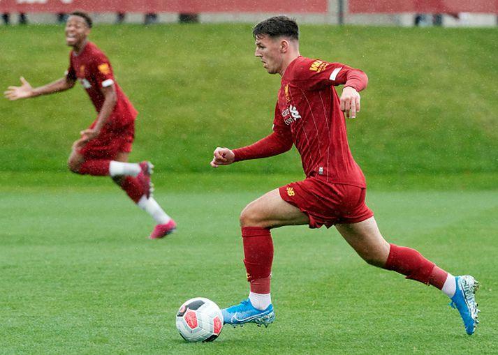 Bobby Duncan í varaliðsleik með Liverpool.